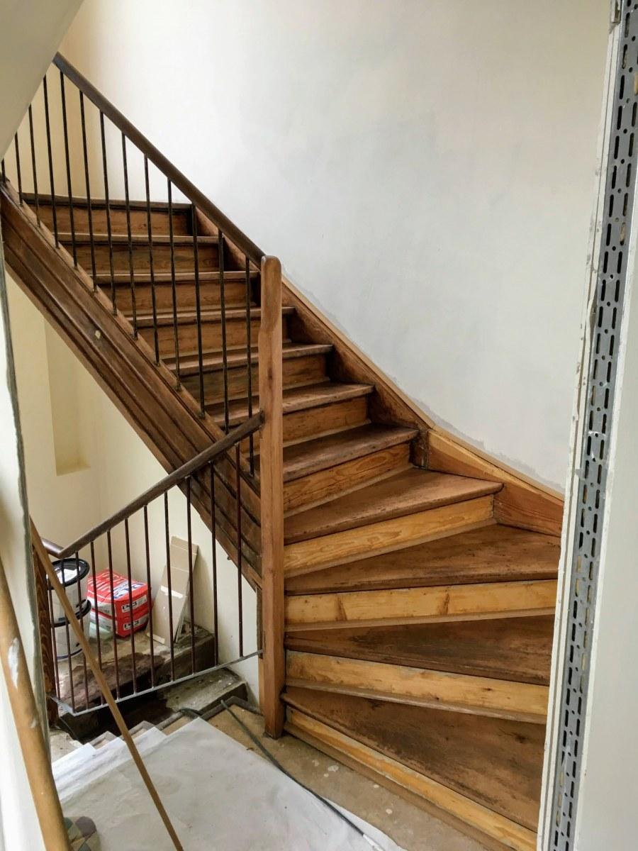 Sanierung einer historischen Treppe (nachher)